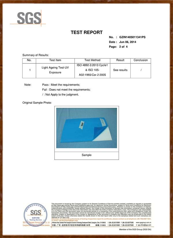 White Acrylic Sheet UV Test EN